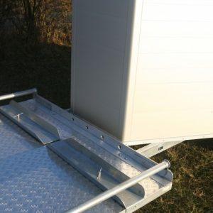 Porte-calèche Cheval Liberté hippomobile aluminium rouge accroche des rampe