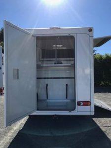 sellerie arrière camion transport chevaux paragan equistar blanc